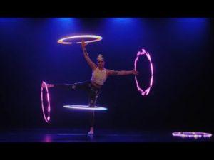 サーカスフープ&フープダンス【Lila Chupa-Hoops|LED * Hula-hoop* ACT】